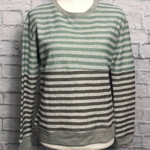 L.C.T by lucca couture Grey Striped Sweater